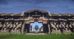 Decorated Fort Wall Schematic Minecraft Map & Project
