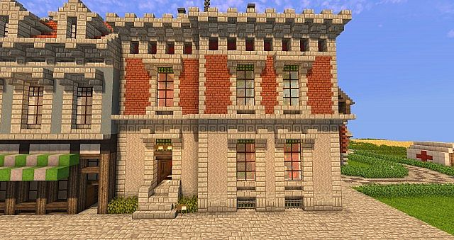 The reichenhall palais 1871 minecraft project for Classic house tutorial