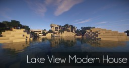Lake View Modern House Minecraft Project