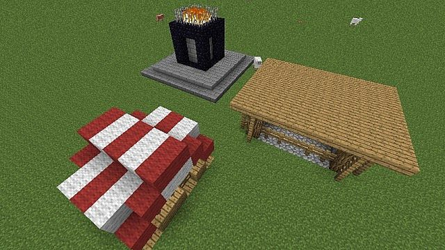 Nether Portals and Horse Stable and Market Stand