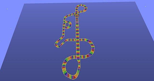 N64 Rainbow Road Minecraft Project