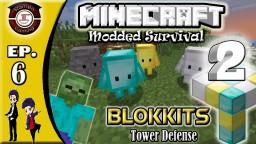 Minecraft Modded Survival ep 6 Blokkits Tower Defense 2 Minecraft Blog Post