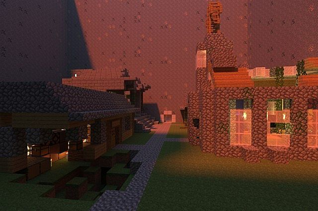 A Render of the first villiage