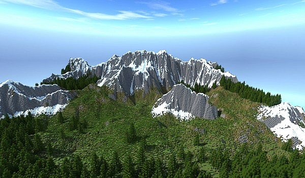 THE SCALPS! ~~ Ultra realistic mountain range with trees and ores!  Minecraft Map