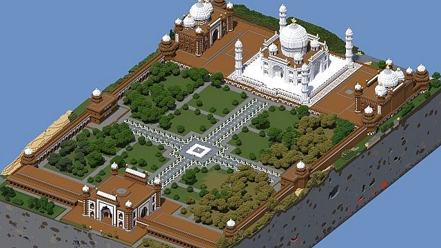 Minecraft Taj Mahal Blueprint - #traffic-club