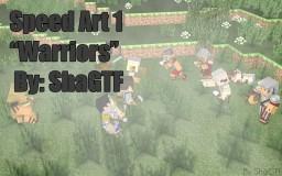 C4D Minecraft Speed Art    Warriors Minecraft Blog Post