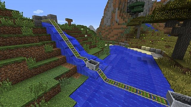 how to make a floating rail in minecraft