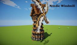 Nordic WindMill Minecraft Map & Project