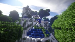a temple in the air Minecraft Map & Project
