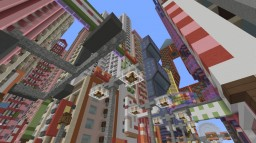 Hong Kong/Tokyo inspired city Minecraft Map & Project