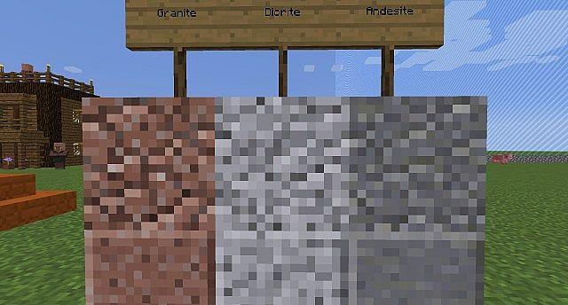 New Granite Diorite And Andesite!
