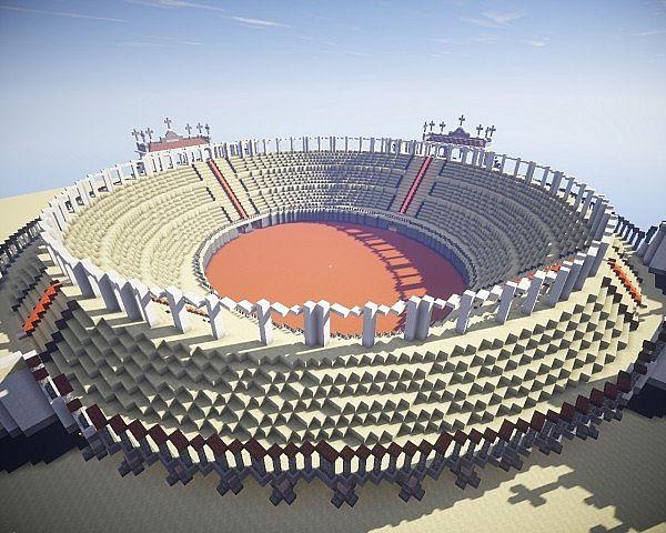 Ancient Rome Gladiators Arena Minecraft Project