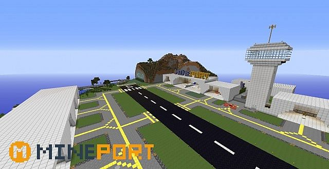 Mineport V A Minecraft Airport W Flans Mod Minecraft - Minecraft maps fur flans mod