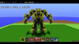 Bumblebee Human-Robot Form / Transformers Minecraft Map & Project