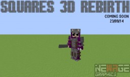 Squares 3D rebirth 64x - please read the update notification on further information Minecraft Texture Pack