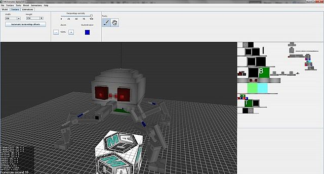 Mcanimator Beta 1 2 Create And Animate Your Models: minecraft 3d model maker