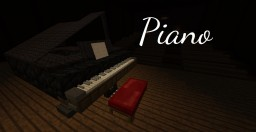 Playable Grand Piano - 4 Octaves, Pedals, Animated Keys, and Music Playing! Minecraft Map & Project