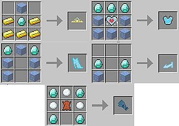 Elsa Armor  Glove Crafting Recipes