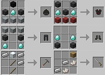Kristoff Armor  Pickaxe  Ice Saw Crafting Recipes