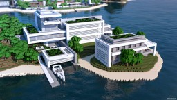Contemporary Island Mansion Minecraft Project