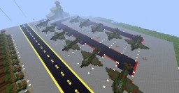 millitary airport, jets, tanks and trucks Minecraft Project