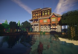 High Medieval House series 2 Guild-House Minecraft Project