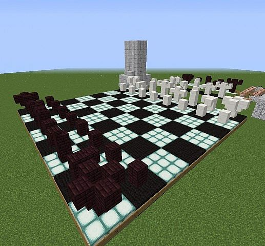 PLAYABLE) Two Player Chess In Minecraft Minecraft Project