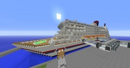 modern cruiseship and harbour Minecraft Project