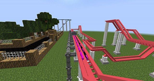 Мод на rollercoaster горки в майнкрафт 1.7.2