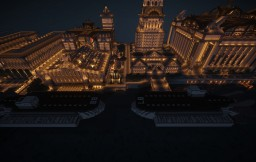 Airship Pirates World - One of every airship type above spawn, 8K x 8K world, 10 cities