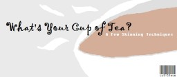 Whats Your Cup of Tea? Minecraft Blog