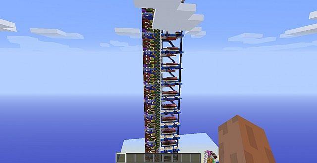 14 Floor Elevator Minecraft Project