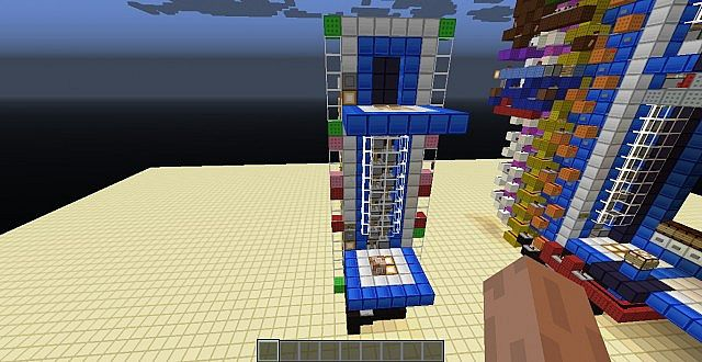 14 Floor Elevator Minecraft Project