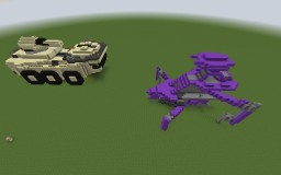 Halo 4 Mammoth and Scarab Minecraft Project