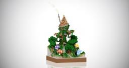 Small Plot #2 - Fantasy Tree House Minecraft Map & Project