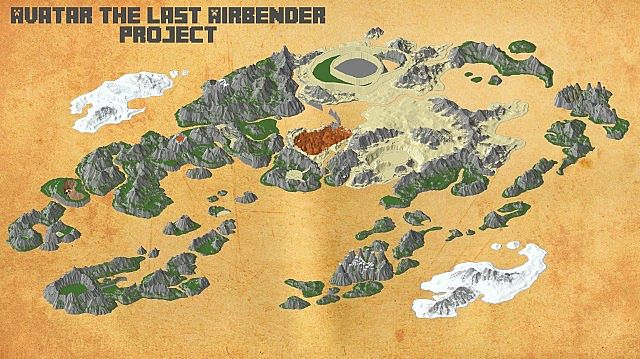 Avatar The Last Airbender Project Minecraft Project - Avatar the last airbender us map