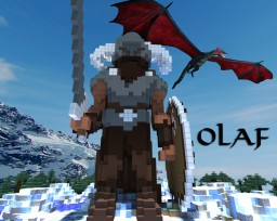 First Organic Build? | Olaf the Twice named Legend | Norse Statue | Pop Reel! Minecraft