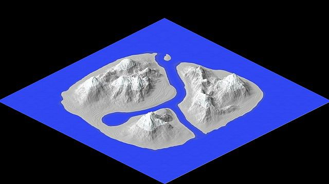 3d view of the empty map