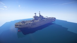 Mistral-class amphibious assault ship [scale 1:1] Minecraft Map & Project