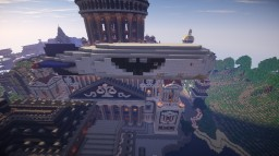 Working Full Featured Airship in Minecraft 1.8 - NO MODS OR PLUGINS! - A Movecraft style airship Minecraft