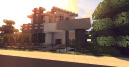 Mid-Century Modern Home Minecraft Map & Project