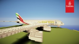 Airbus A380-800 Emirates Minecraft Map & Project