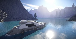 Yacht at Sunfall Valley. Minecraft Map & Project