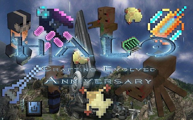 halocraftingevolvedanniversary8166350 [1.9.4/1.8.9] [16x] Halo: Crafting Evolved Anniversary Texture Pack Download