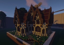 Medieval - House Plotbuild by Obinotus Minecraft
