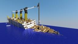 H.M.H.S.Britannic sinking Minecraft Map & Project