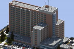 Downtown Huntington City Hospital | ECS Minecraft Project