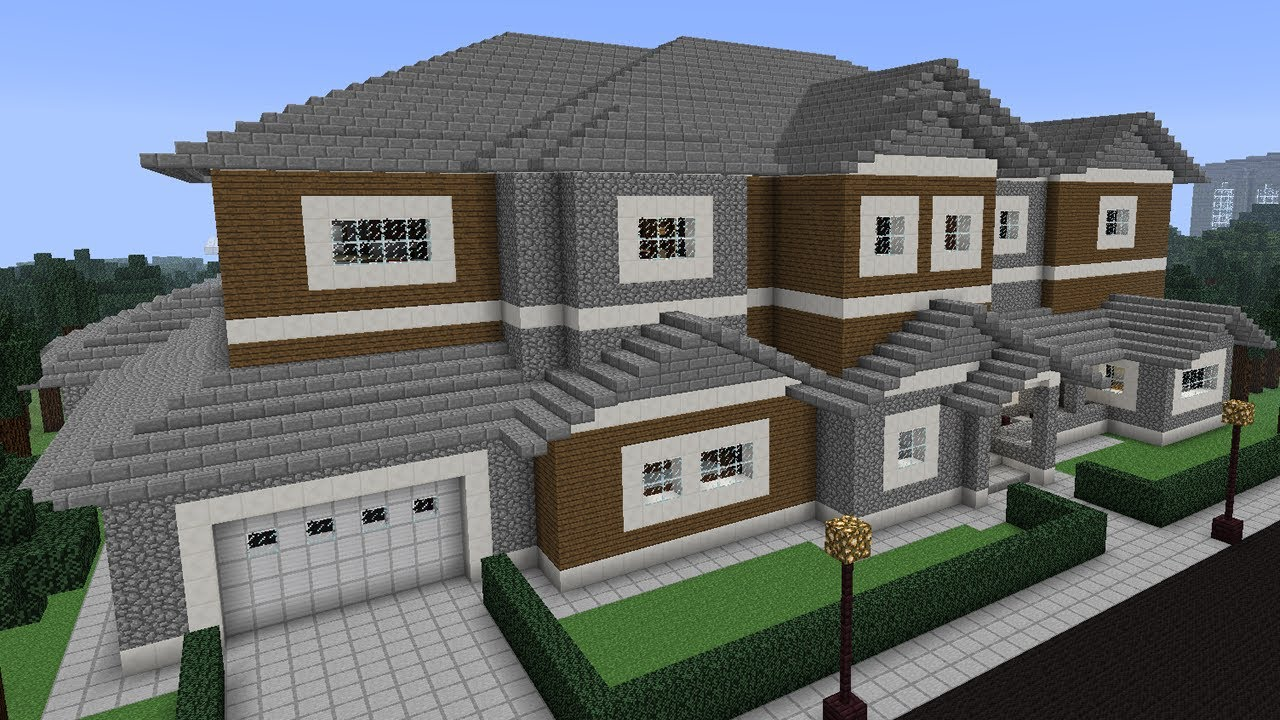 Minecraft city house design important wallpapers for Modern house mc