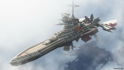 Aurora-Class Battleship - A steampunk-ish airship Minecraft Map & Project