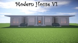 Modern House V1(working lights) Minecraft Map & Project